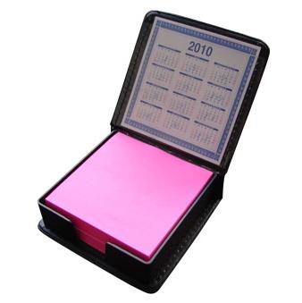 EX9875  - Porta Taco Con Calendario Simil Cuero