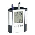 Reloj /  Porta Lápices Y Bolígrafos